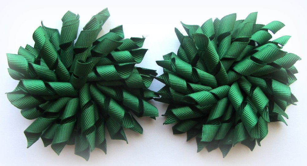 Dark Green Korker Hair Bows