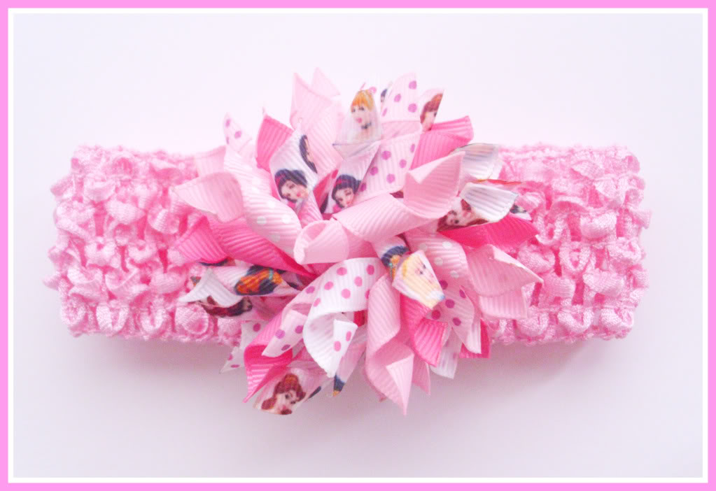 Pink Disney Princess Korker Crochet Headband