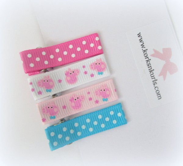 Peppa & George Pig MINI Polka Dot Alligator Hair Clips Gift Set