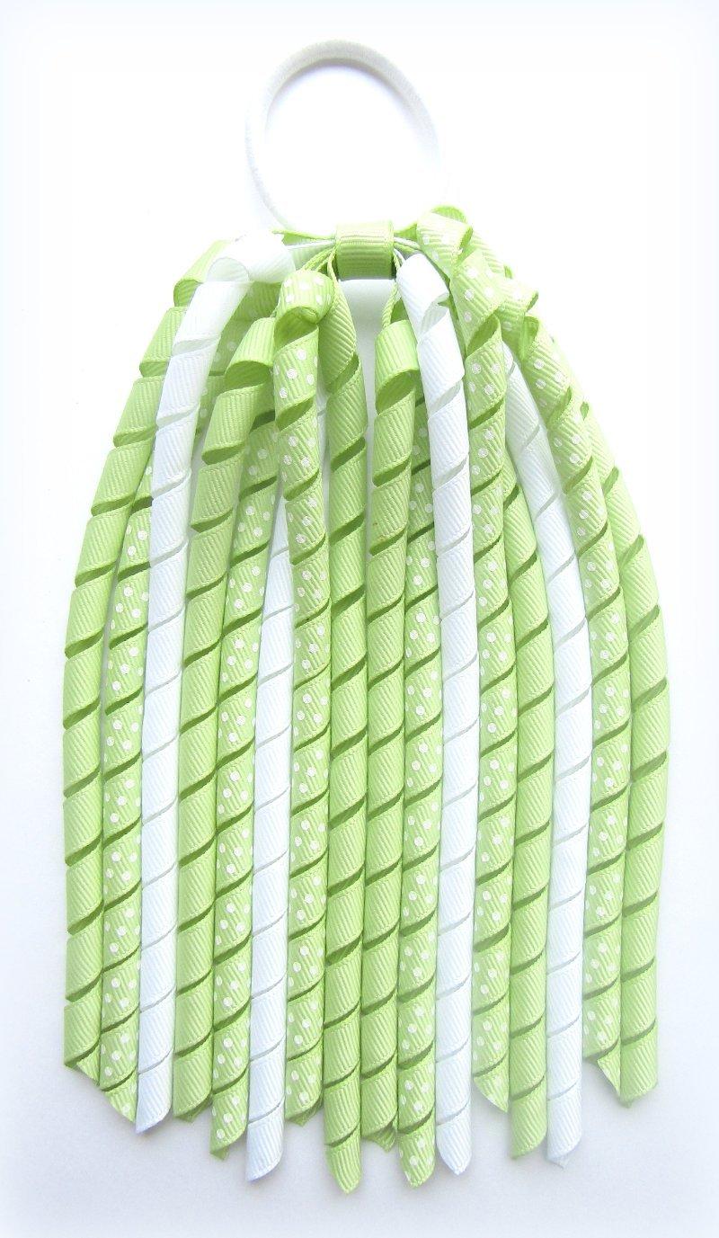 Limejuice Green Dot Korker Ponytail Streamer