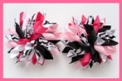 Wild One Pink Korker Hair Bows