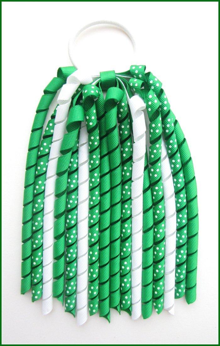Emerald Green Polka Dot Korker Streamer