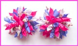 Disney Frozen Anna Purple Pink Korker Hair Bows