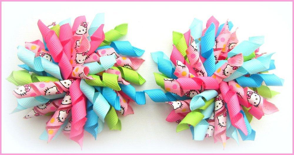 Bright Summer Hello Kitty Korker Hair Bows