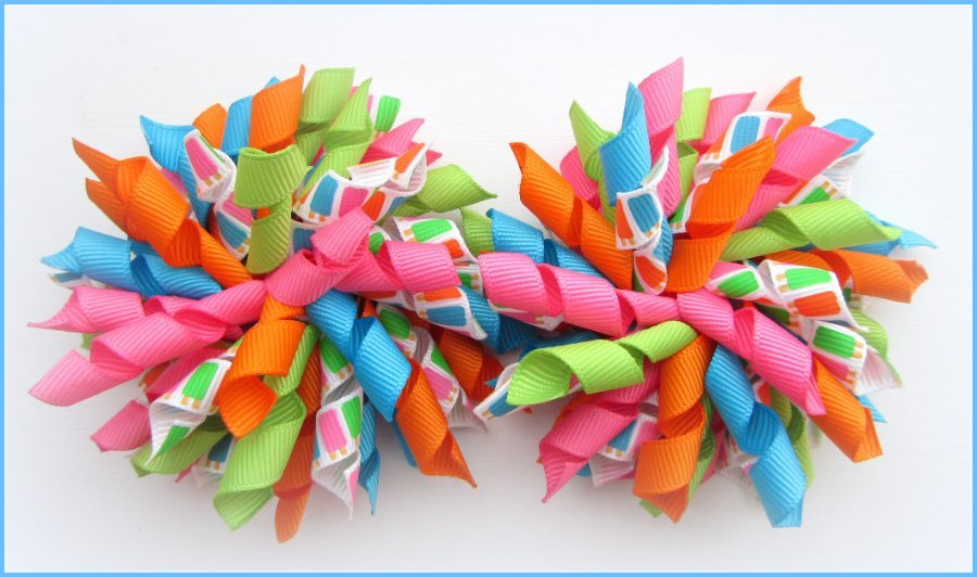 Summer Ice Lolly Popsicles Korker Hair Bows