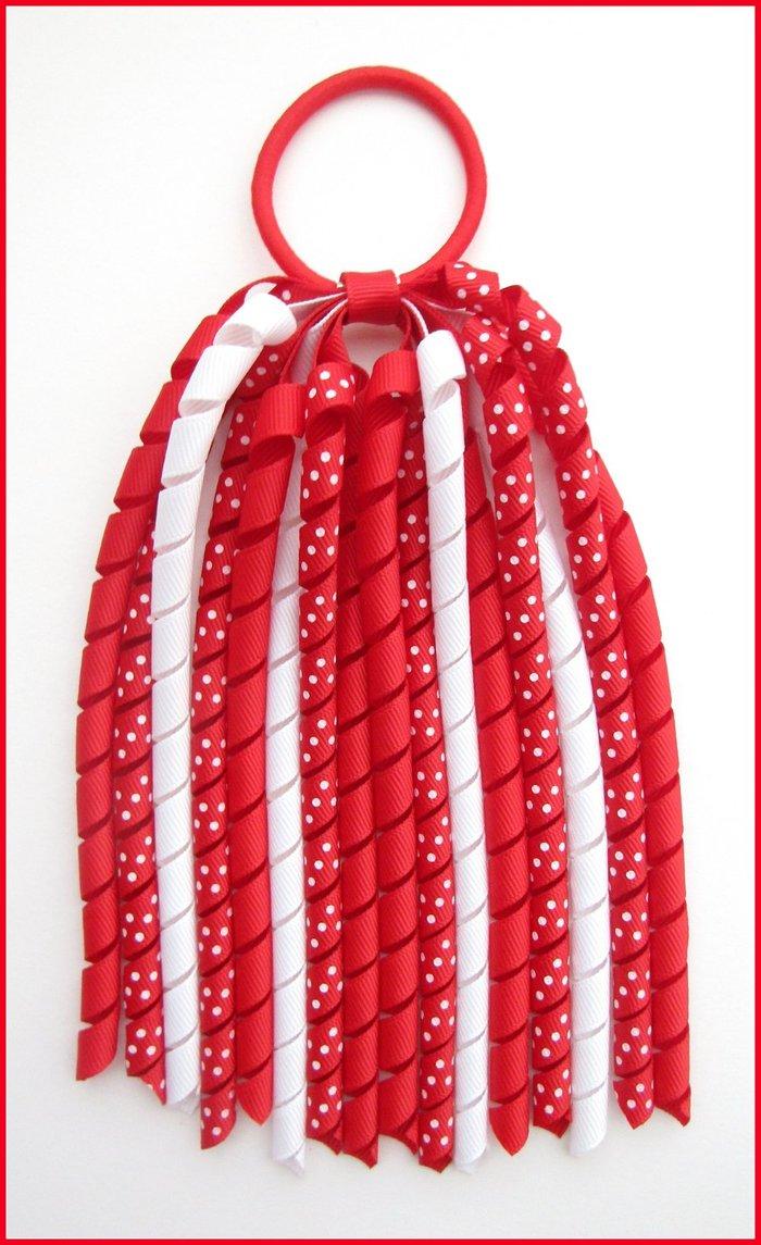 Red Polka Dot Korker Streamer
