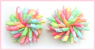 Bright Summer Rainbow Ombre Korker Hair Bows