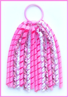 Hot Pink Barbie  Korker Ponytail Streamer