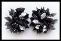Black Polka Dots Korker Hair Bows
