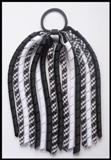 Black Gingham Korker Ponytail Streamer