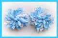 Blue Polka Dots Korker Hair Bows