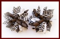 Brown Stripe Korker Hair Bows