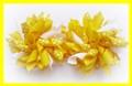 Daffodil Yellow Polka Dots Korker Hair Bows