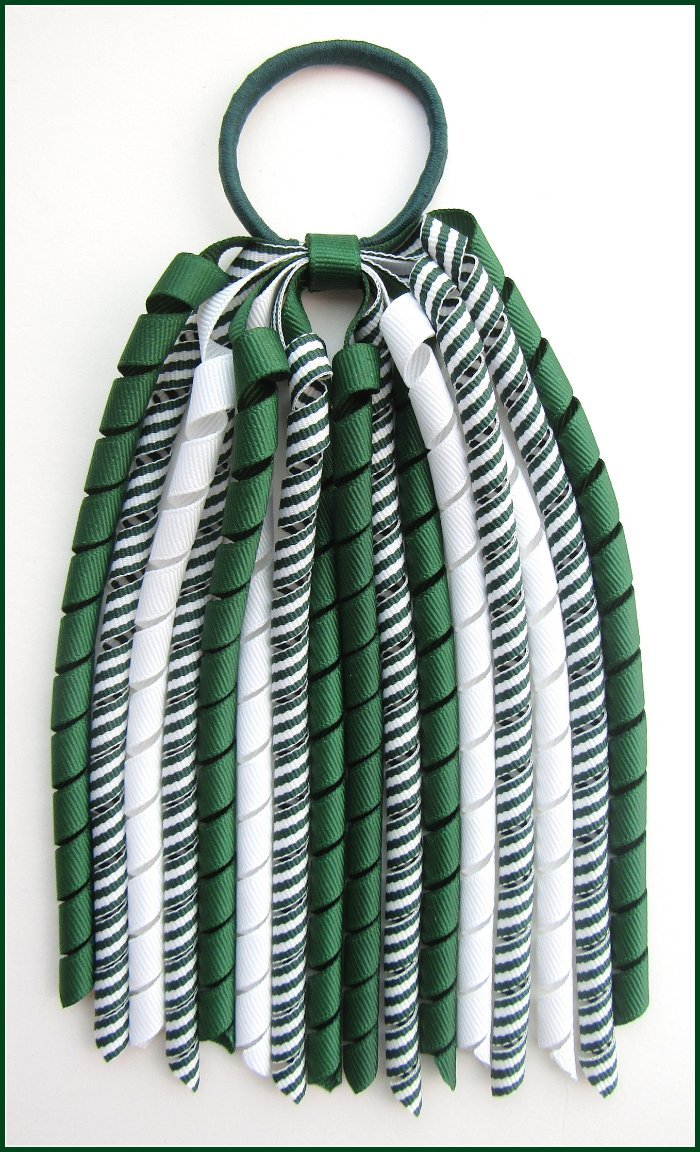 Dark Green Stripe Korker Streamer