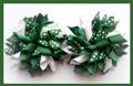 Dark Green Polka Dots Korker Hair Bows