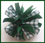 Dark Green Gingham Firecracker Hair Bow
