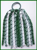 Dark Green Gingham Korker Ponytail Streamer