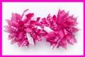 Dark Pink Polka Dots Korker Hair Bows