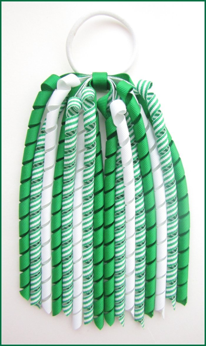 Emerald Green Stripe Korker Streamer