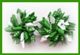 Emerald Green Polka Dots Korker Hair Bows