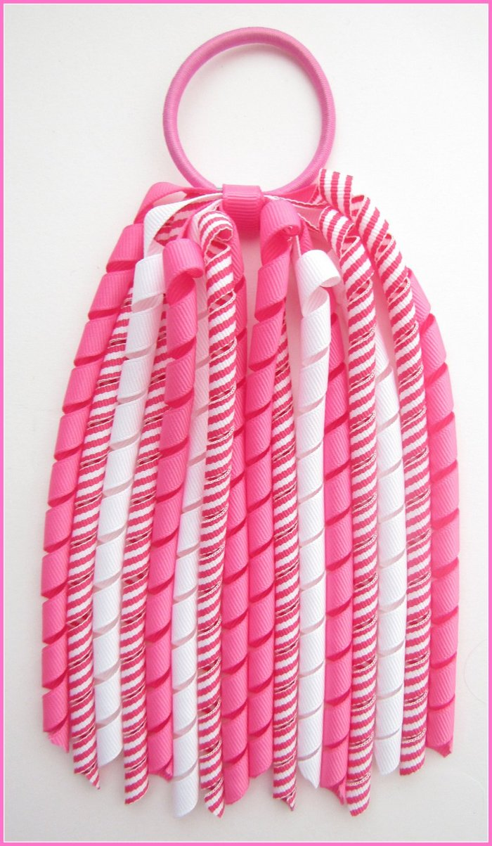 Hot Pink Stripe Korker Streamer