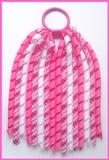 Hot Pink Gingham Korker Ponytail Streamer
