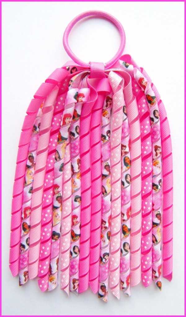 Disney Princess Hot Pink Korker Ponytail Streamer
