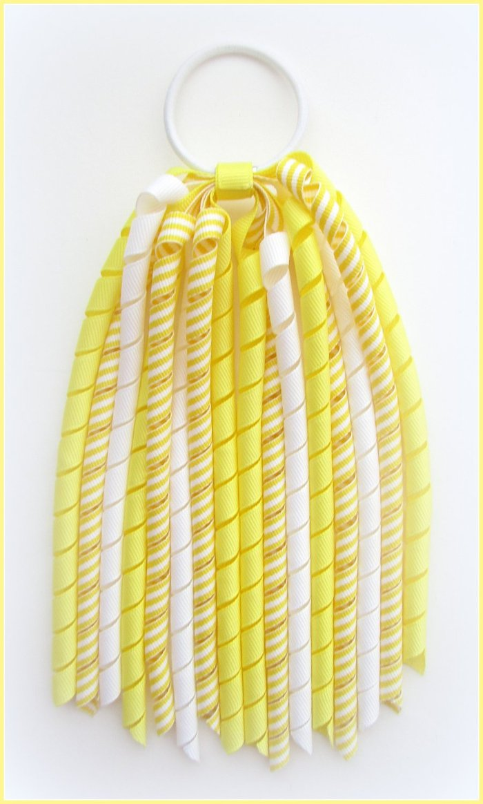 Lemon Stripe Korker Streamer