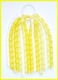 Lemon Gingham Korker Ponytail Streamer
