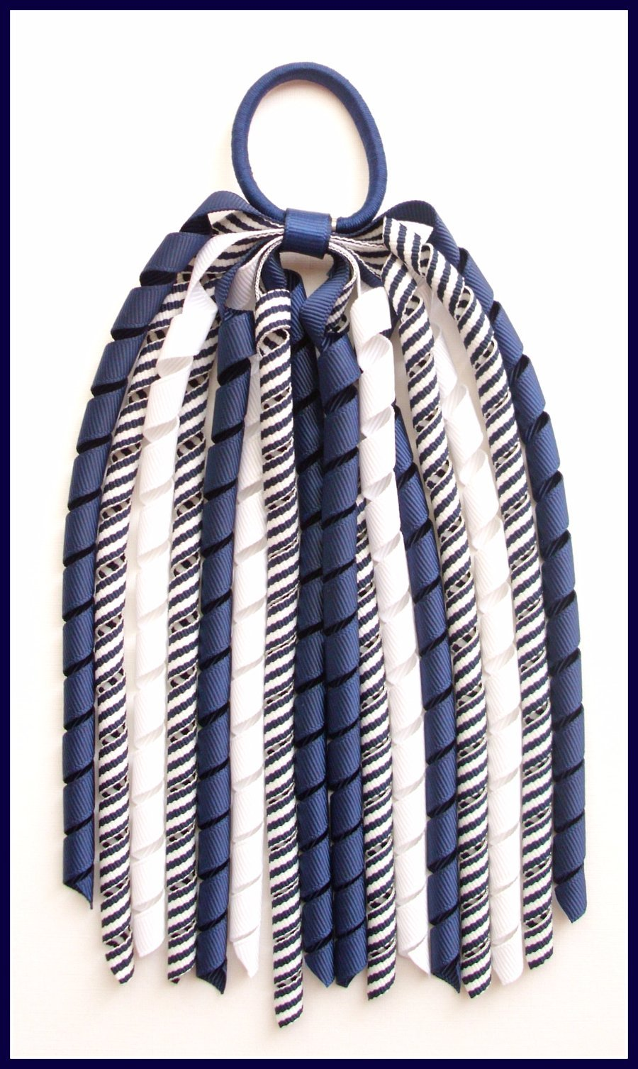 Navy Blue Stripe Korker Streamer