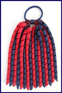 Red Navy Blue Korker Ponytail Streamer