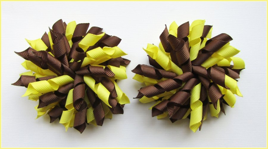 Brown Lemon Yellow Brownies Korker Hair Bows