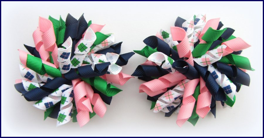 Smart Girls Rule Argyle Mix Korker Hair Bows