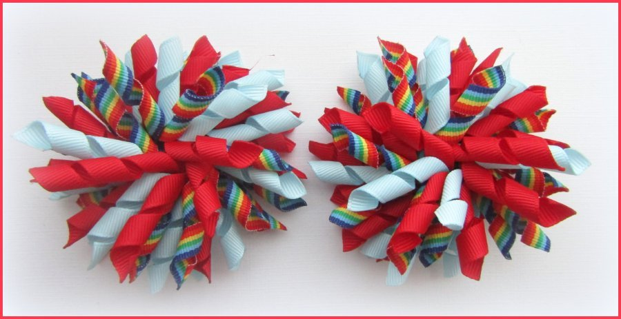Rainbows Uniform Korker Hair Bows