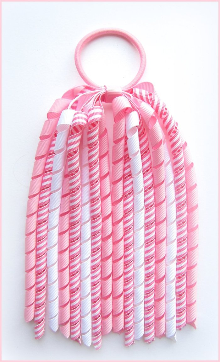 Pink Stripe Korker Streamer