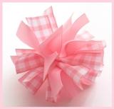 Pink Gingham Firecracker Hair Bow