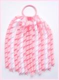Pink Gingham Korker Ponytail Streamer