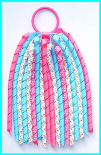 Summer Ice Lolly Popsicle Korker Ponytail Streamer
