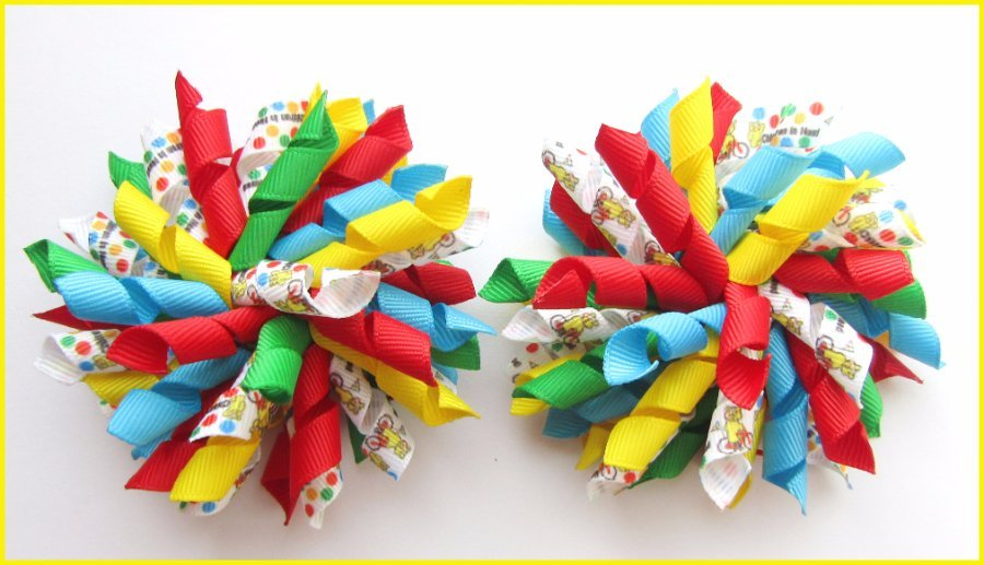 Pudsey Bear Children In Need Korker Hair Bows
