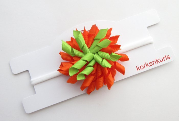 Halloween Pumpkin Baby Korker Nylon Headband