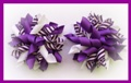 Purple Stripe Korker Hair Bows