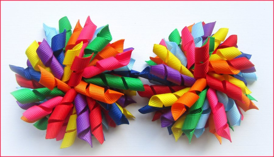 Rainbow Korker Hair Bows