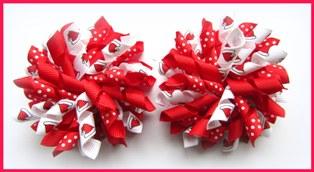 Christmas Santa Hats Korker Hair Bows