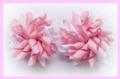 Rose Pink Polka Dots Korker Hair Bows