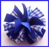 Royal Blue Gingham Firecracker Hair Bow
