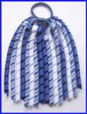 Dark Royal Blue Gingham Korker Ponytail Streamer