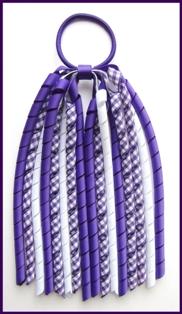 Purple Gingham Korker Ponytail Streamer
