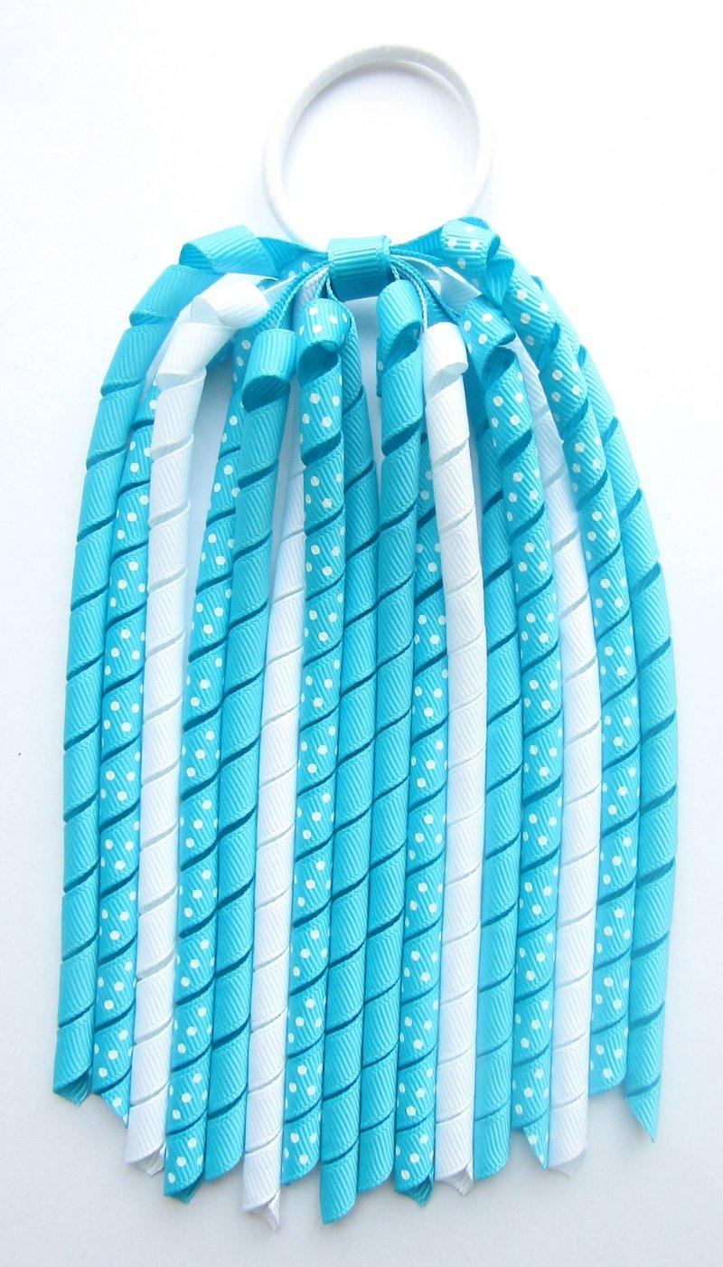 Turquoise Korker Ponytail Streamer