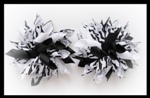 Wild One Black White Zebra Korker Hair Bows