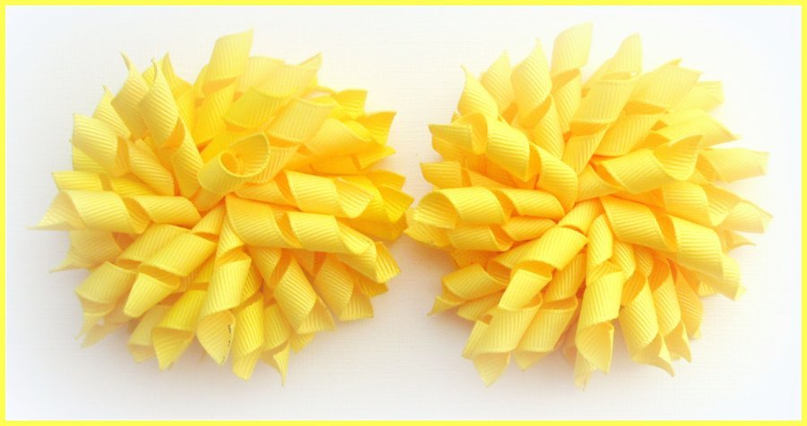 Daffodil Yellow Easter Korker Hair Bows